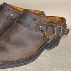 Frye Belted Harness Mule